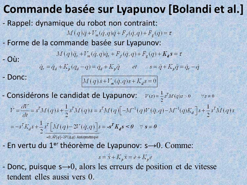Commande basée sur Lyapunov [Bolandi et al.]